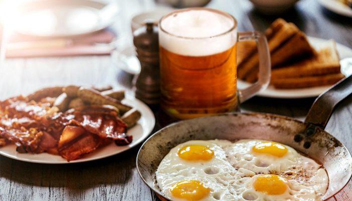 desayunar cerveza