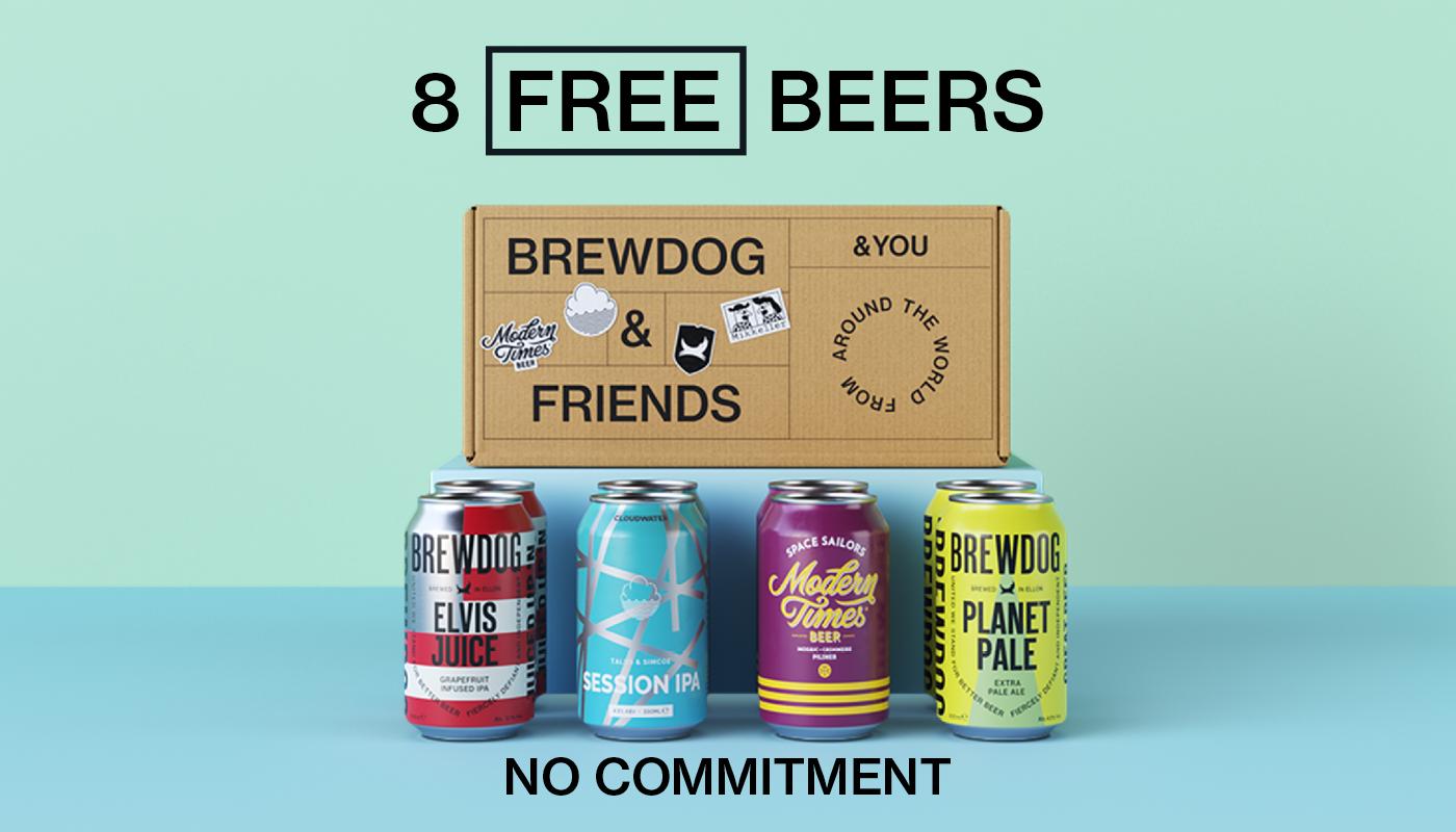 BrewDog enviará cervezas