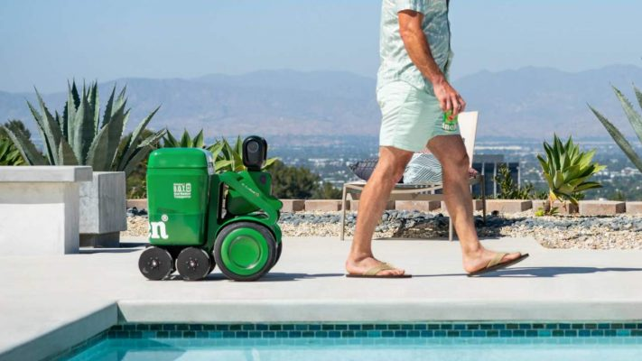 robot hielera de Heineken