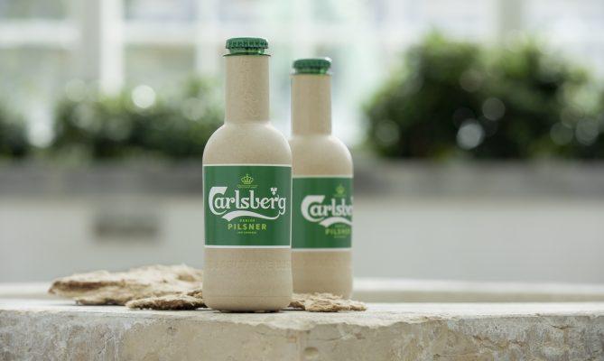 botellas de papel para cerveza