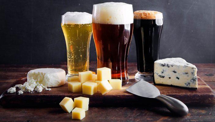 maridaje de cerveza con queso