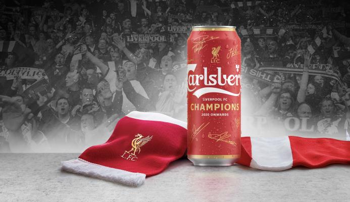 Carlsberg lata Liverpool campeón