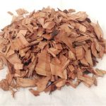 Chips de madera naranjo