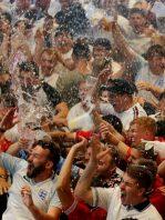 cuánta cerveza desperdiciaron los fans durante los goles de Inglaterra en el Mundial