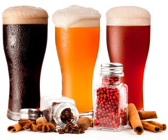 elaboración de cerveza con especias