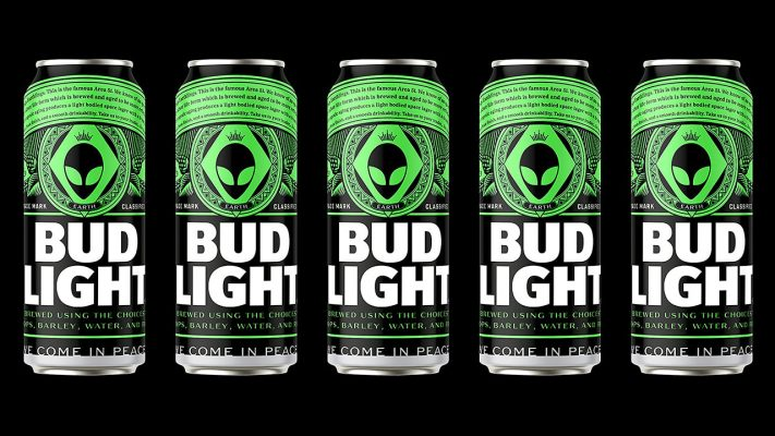 Bud Light cerveza gratis alien Area 51
