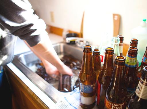 embotellado de cerveza casera
